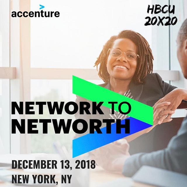 Have you RSVP'd for tomorrow's networking event with Accenture & @hbcu20x20? RSVP with the link in our bio 💙