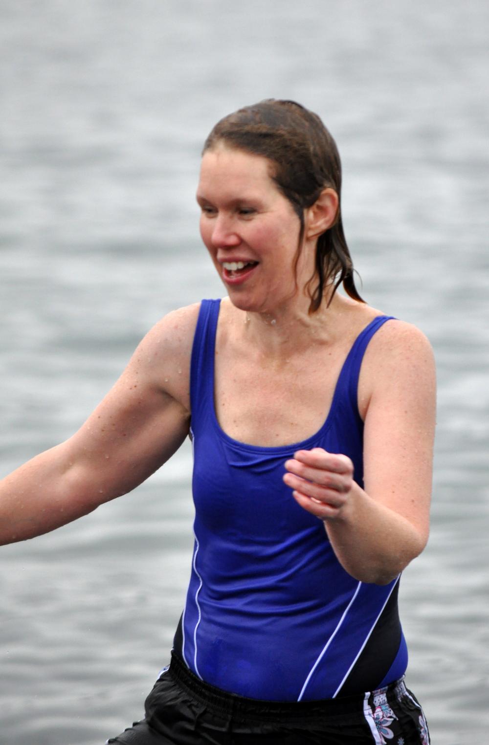 Maggie at the 2014 Sooke Polar Bear Swim