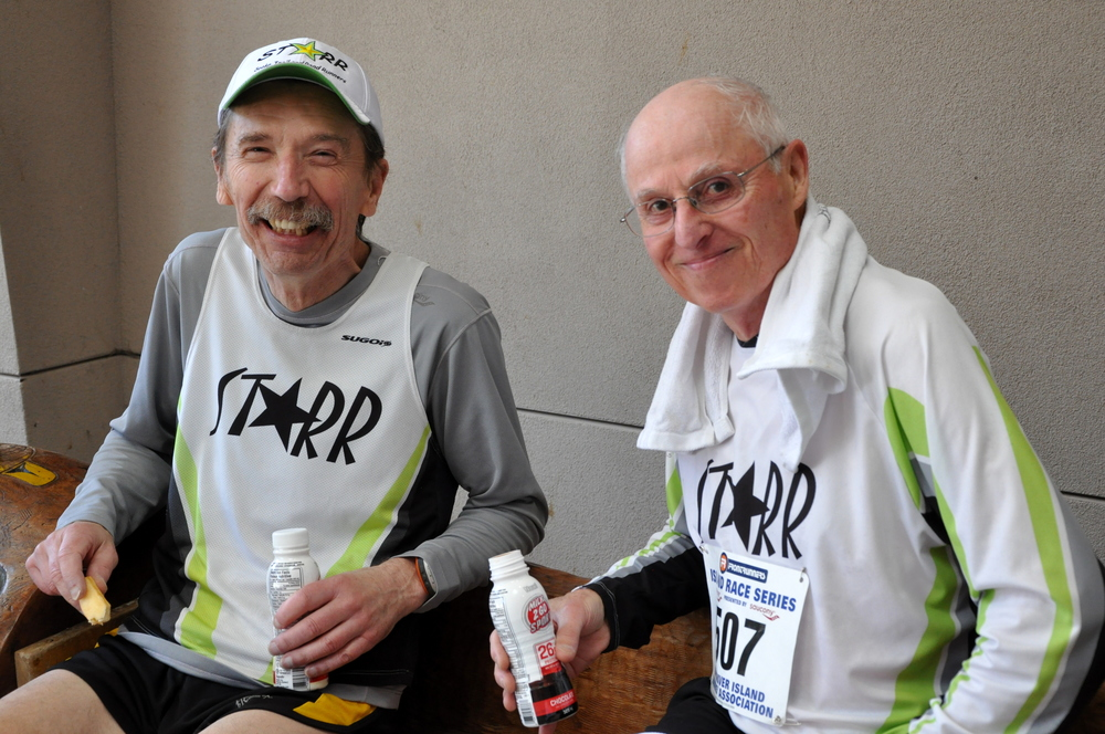 Vince and Tom After the race (Sooke 10km 2014)