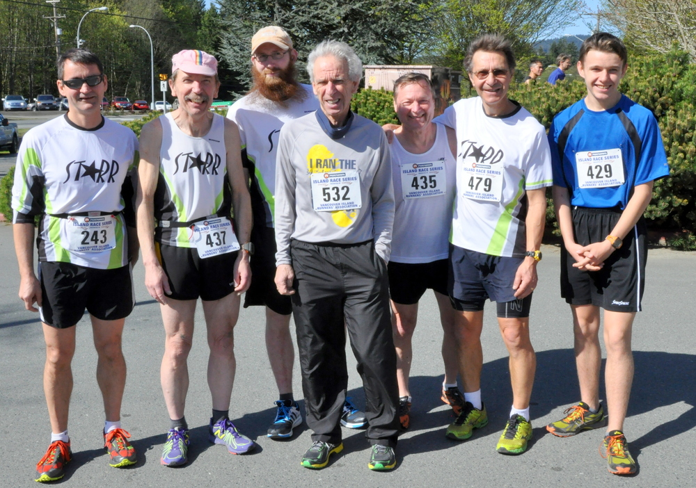 the Starr team represents at the Sooke 10km (Island Series) - April 2014