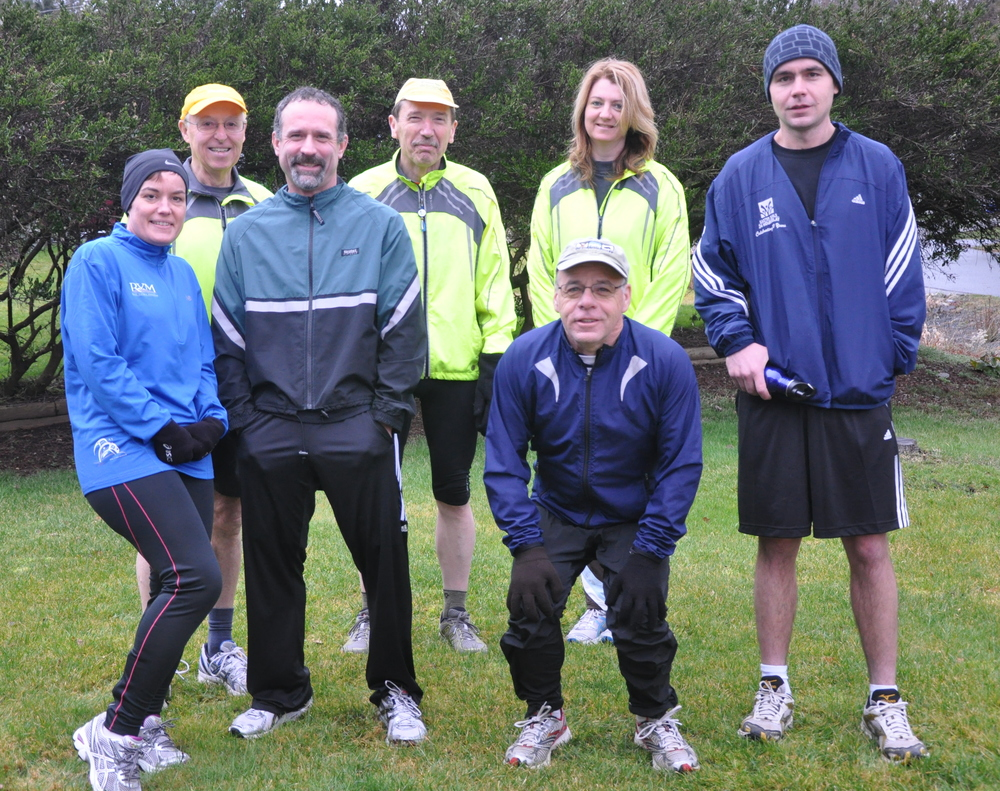 the Starr gang before a group run