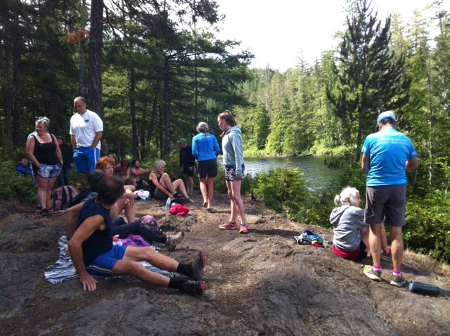 Relaxing after a hike up to Peden Lake and a swim.