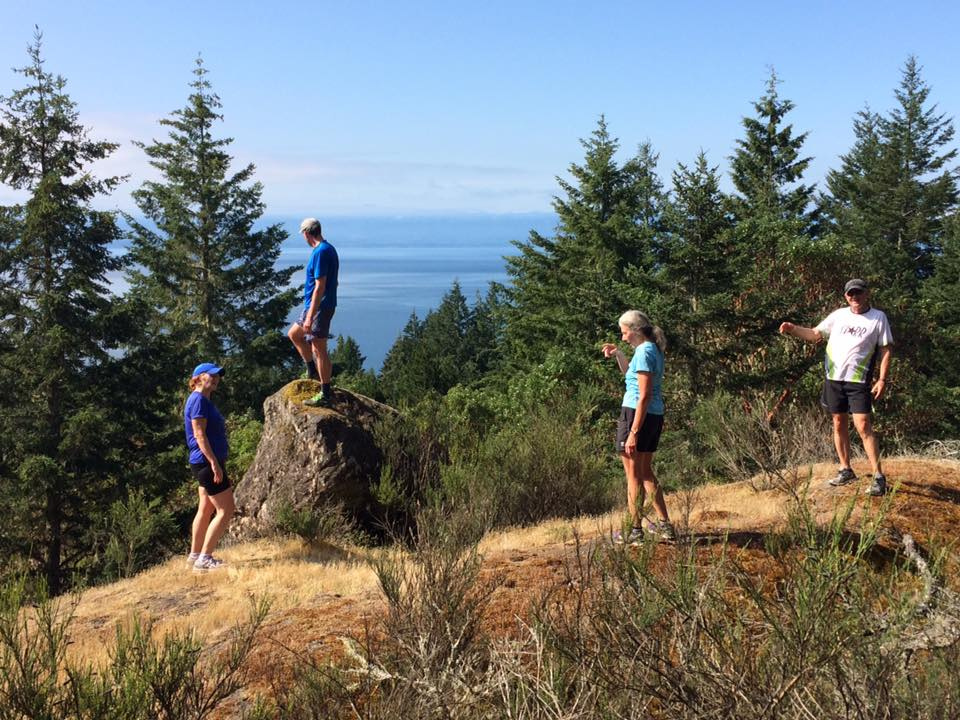 The run up Broom Hill offers amazing views of the Strait of Juan de Fuca.