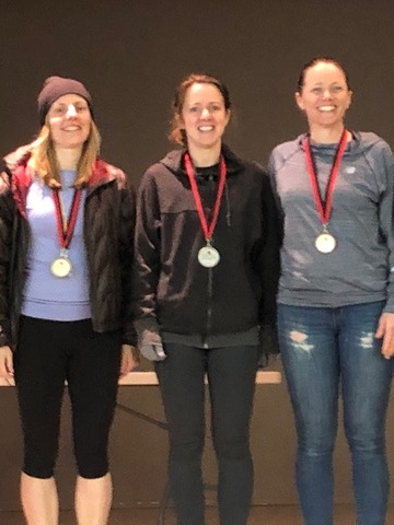 Stephanie earned second place in her age group.