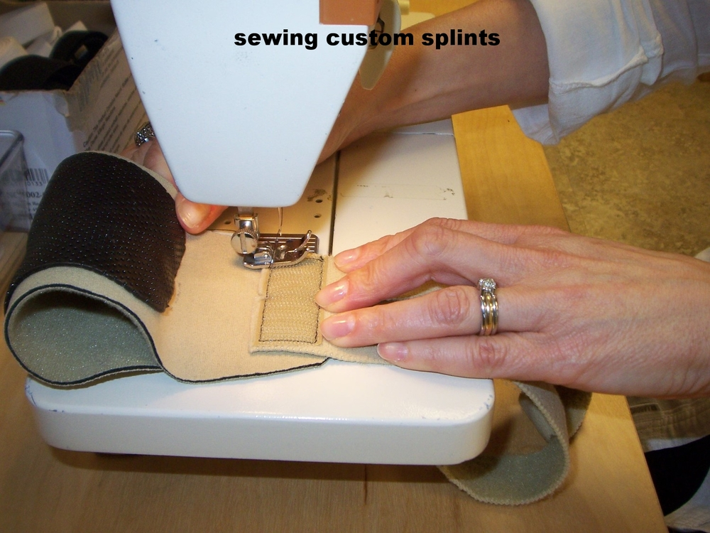 sewing a custom fitted neoprene splint.jpg