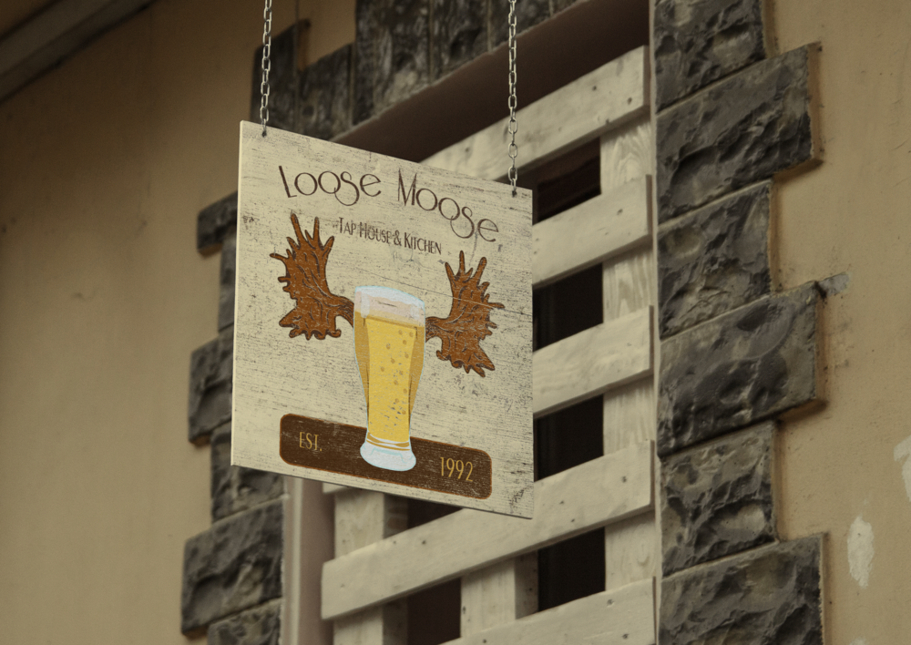 Loose Moose Bar Signage