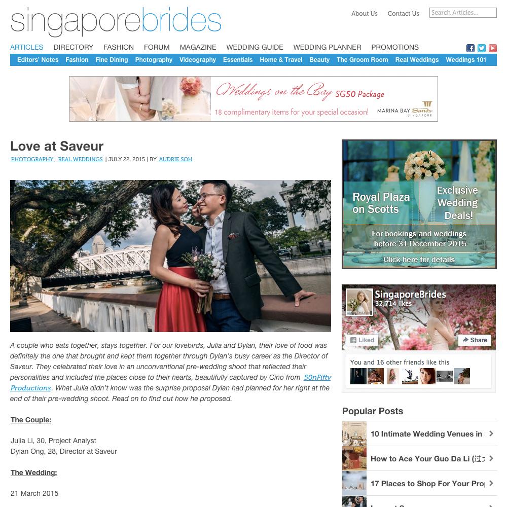 SingaporeBrides.com  July 2015