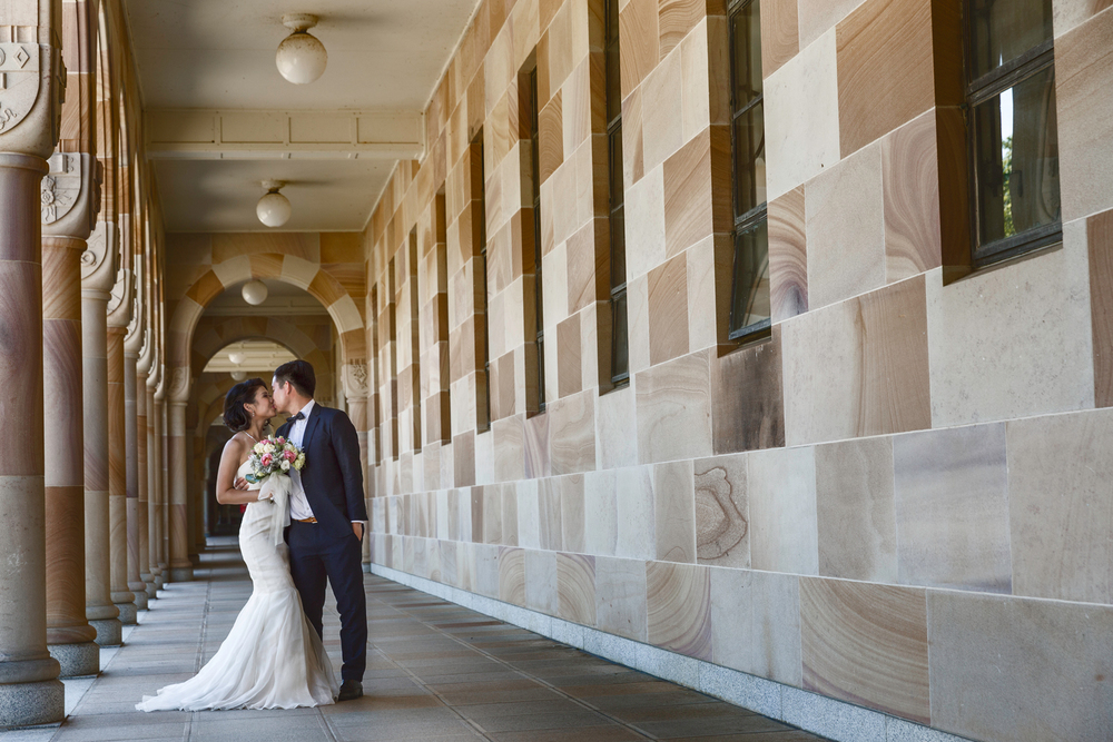 The University of Queensland, University in Brisbane, Queensland  Overseas Wedding Portraiture