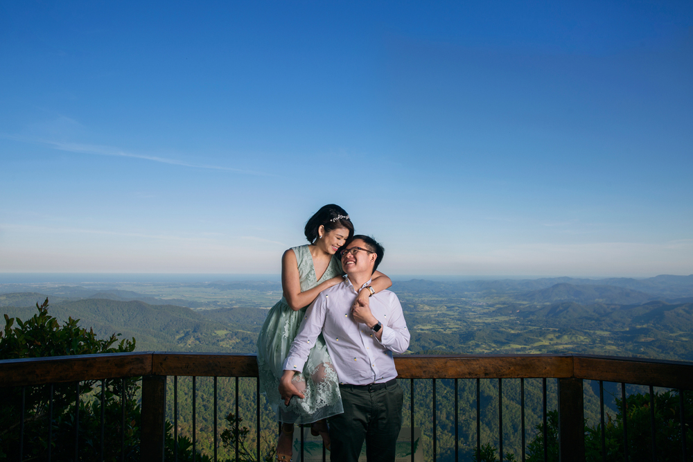Mount Tamborine, Brisbane, Australia  Overseas Wedding Portraiture