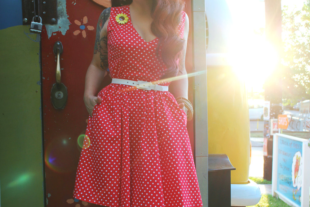 Wax Poetic Sherry Dress in Red Polka Dot 3.jpg