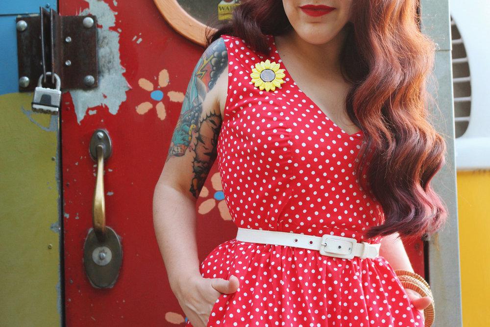 Wax Poetic Sherry Dress in Red Polka Dot 4.jpg