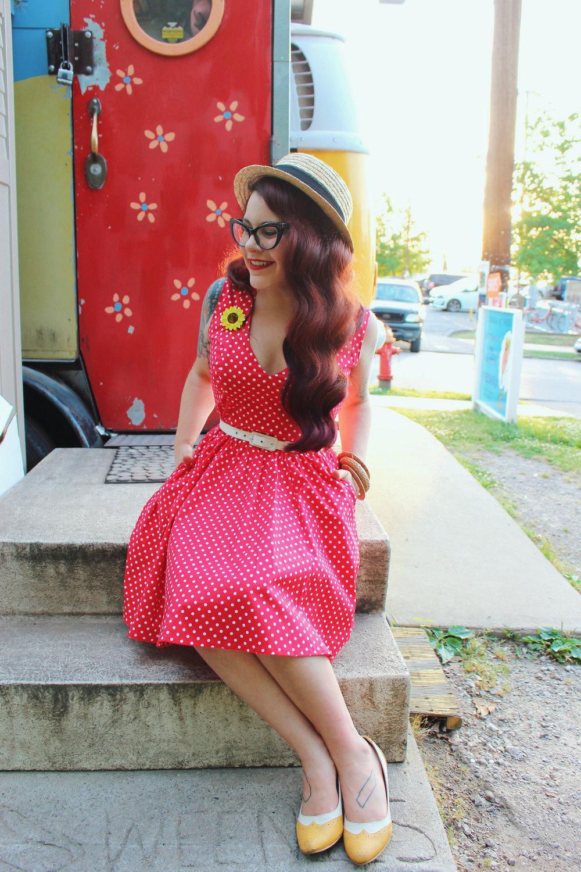 Wax Poetic Sherry Dress in Red Polka Dot.jpg