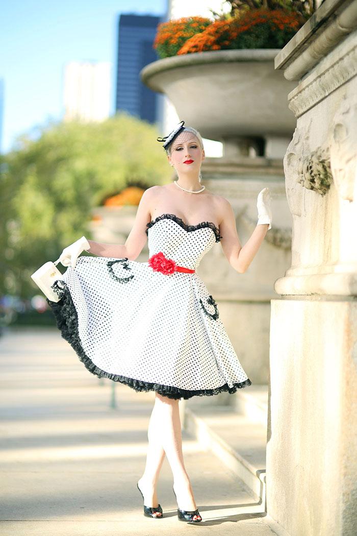 Rachel from Chicago Chic Blog reviews our Polka Dot Sabrina Dress http://chicagochicblog.blogspot.com/2016/10/doll-dots-parisian-inspired-in-wax_19.html