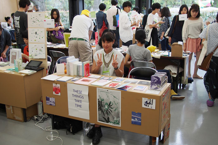 Jessica Williams presented at the Tokyo Art Book Fair with NSEW Press