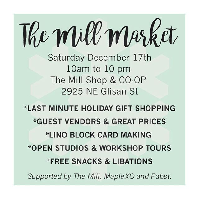 If you haven't checked out @themillpdx yet, this Saturday would be a great day to go! You can tour the shop space and see where the ✨✨✨ of @maplexo @the_tiny_spoon @sykeswoodfenders @nathan_mckee_art and more happens! I will be selling some weavings and my new spritz/elixir line! Hope to see you! Xo 😽✨🌲❄️✌🏽️👅🎉
