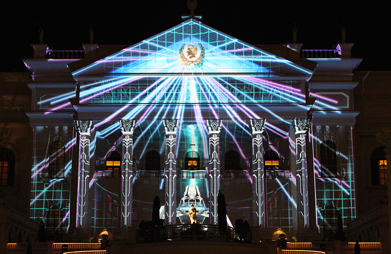 Cover Shot ONLY - DWP Live illuminates Caeser's Palace.JPG