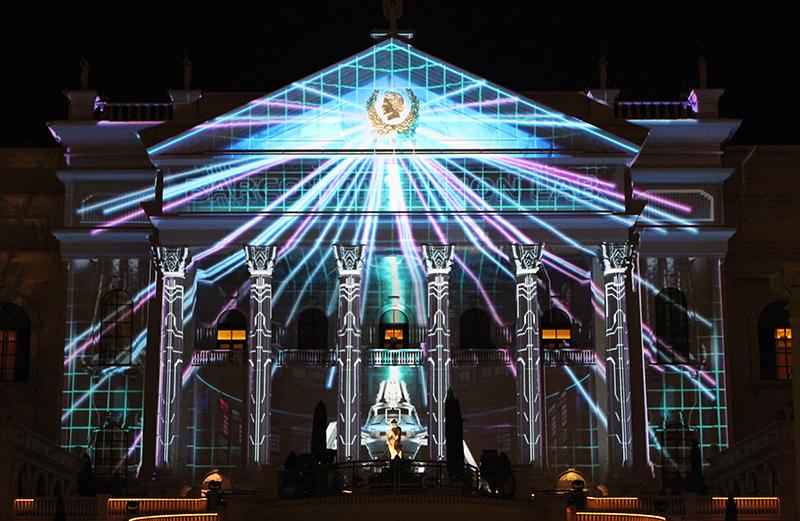 Cover Shot ONLY - DWP Live illuminates Caeser's Palace.JPG