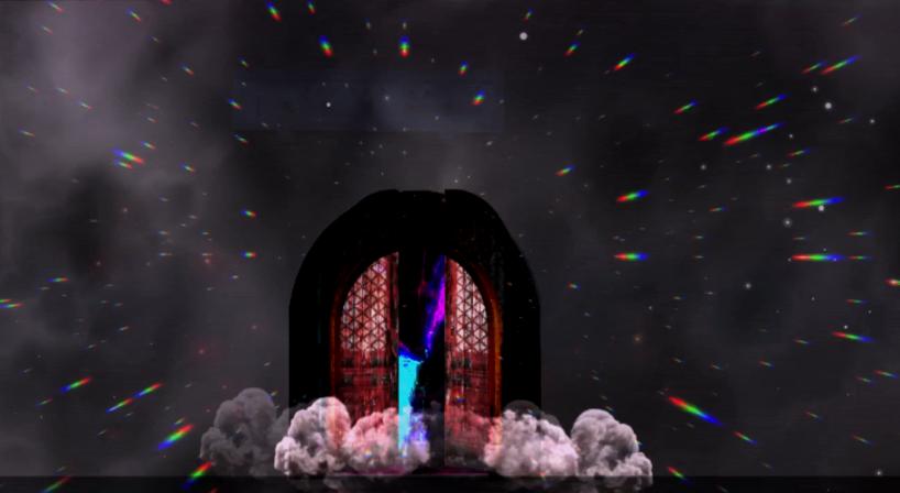 大門開啟蟲洞隨著迎面而來。