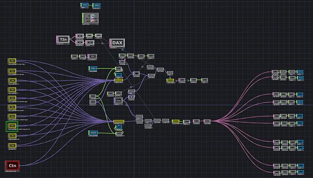 此外,我們還在平板電腦裡建立與所有電腦和投影機之間的通信連結。我們啟用magic packets來控制來開/關機器,向投影機發送JSON訊息。 TouchDesigner在這裡發揮非常大的效果:簡單地加載資料庫,突然我們有我們自己的Crestron系統!