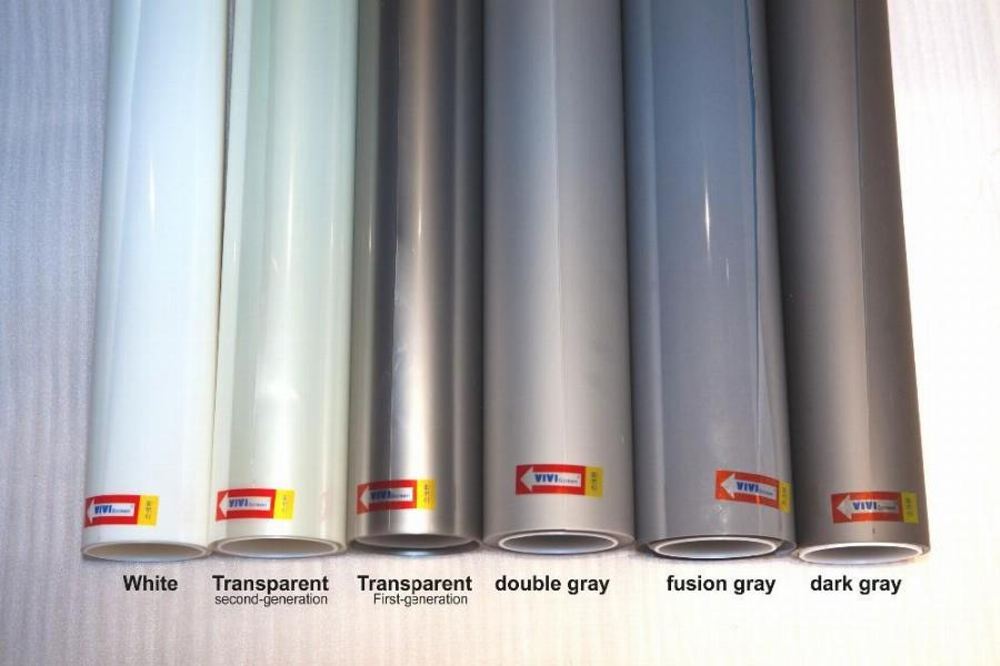 (全息膜種類分別為乳白、透明、雙倍灰、時尚灰、深灰色)