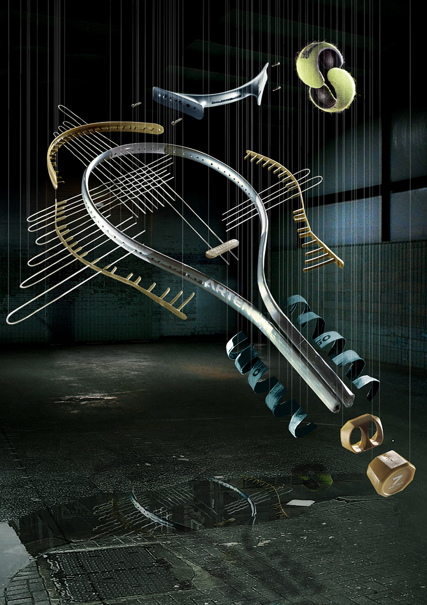 Racket exploded view-layout
