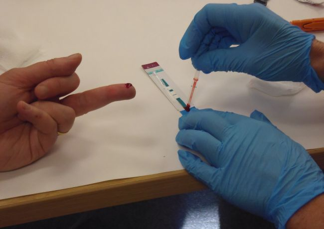 Through the One Life Program, CANAPI offers the Alere Determine Ag/Ab Combination Generation 4 finger stick test for HIV. The test will take 20 minutes to produce a result. If the test shows a positive result, we will refer you for a blood test from the local health department or a primary care physician for a confirmatory lab sample.