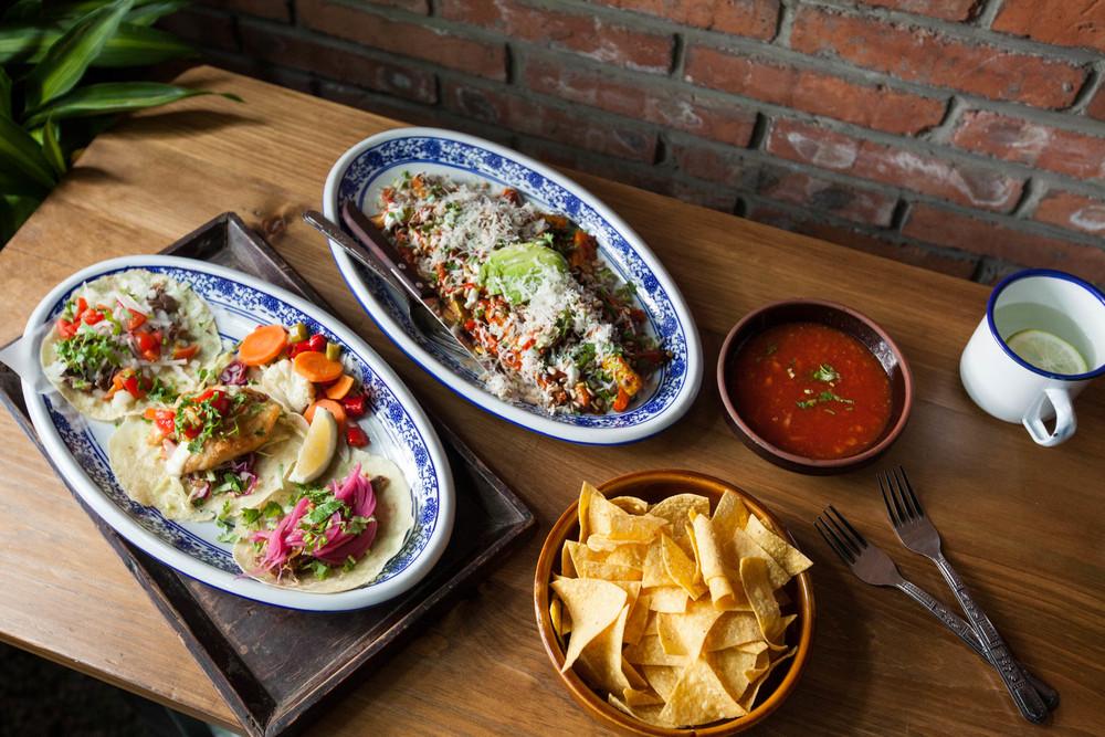 taco bar spread