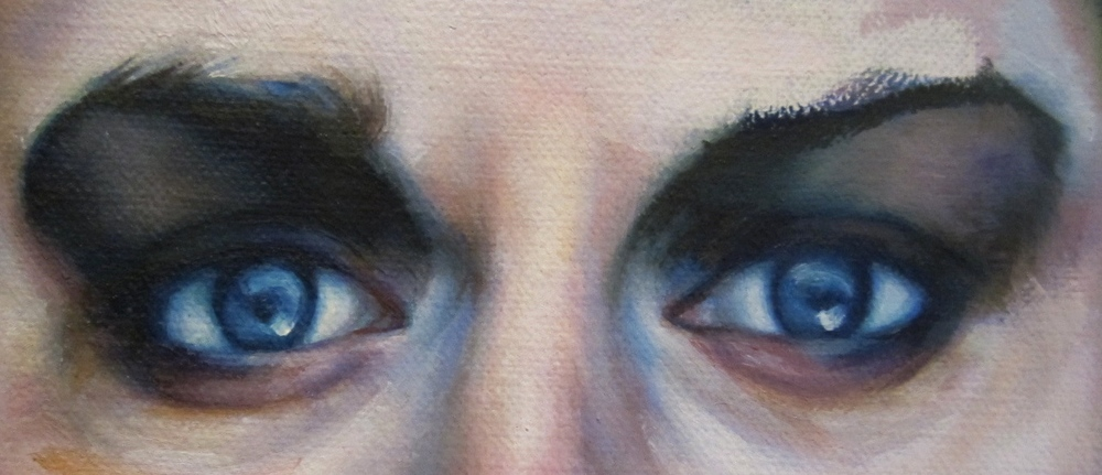Alicia Barrera -oil on canvas -eyes
