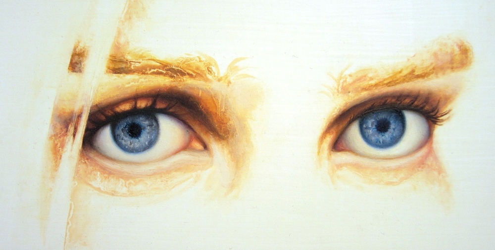 Alicia Barrera - oil on canvas - eyes