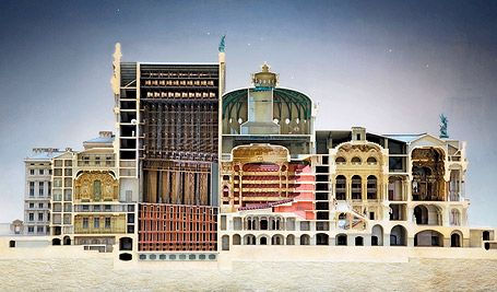 The section model of Opera Garnier currently on exhibition is not to be missed.