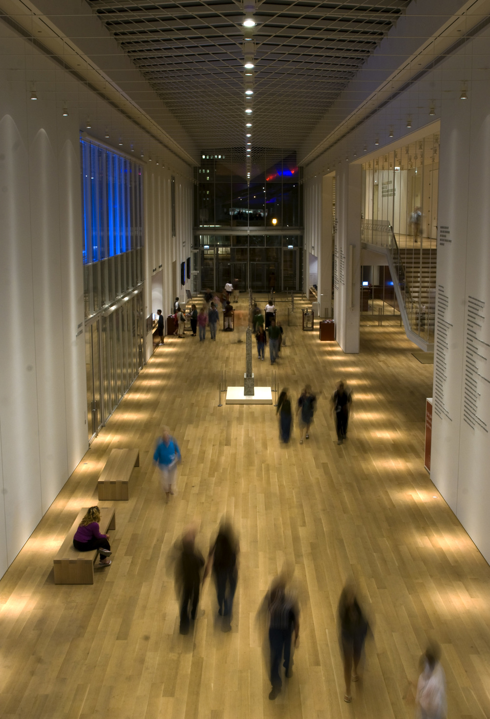 The interior of Renzo Piano's Modern Wing at the Art Institute of Chicago.