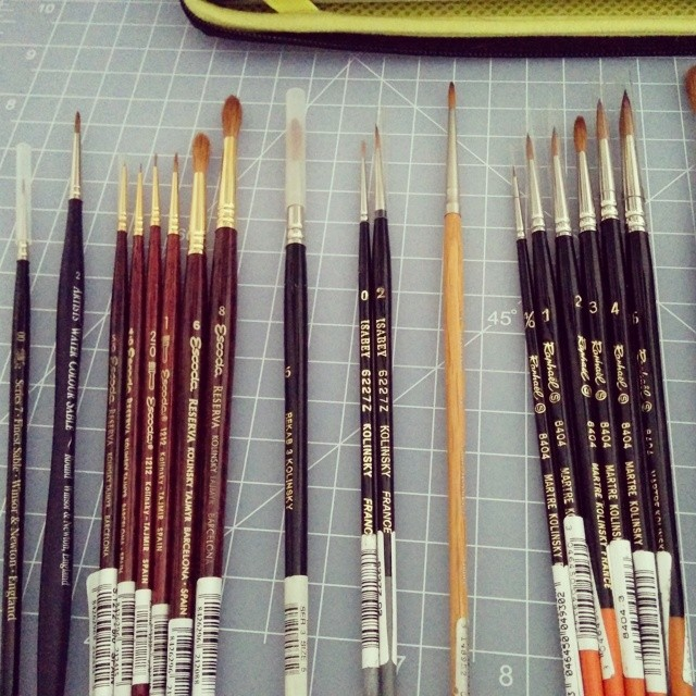 Thought I had more #sable #brushes #kolinskysable #kolinsky #thisiswhyimbroke