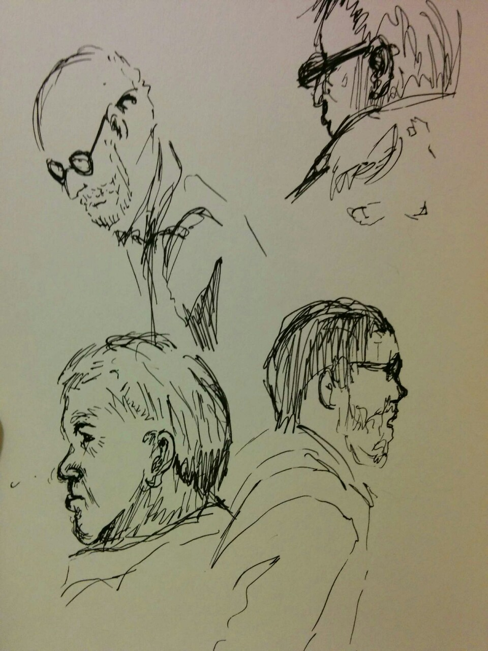 More jury duty sketches