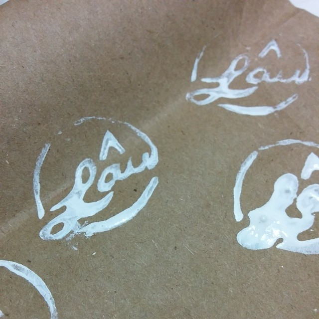 Cutting some stamps! #handmade #stamp