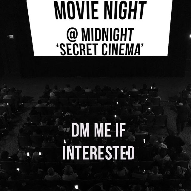 Looking for a movie tonight? I have something special in mind but it's a secret. Let me know if you're interested!