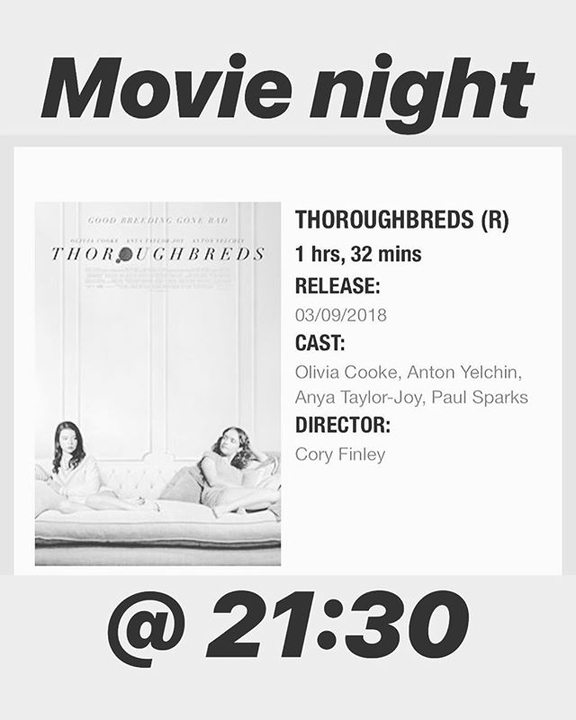 Let's watch a movie! Pre-show drinks and after-movie chats. Tickets are on me, per usual!
