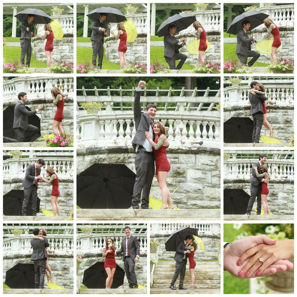 A very recent proposal by Kevin (in the rain) at Yaddo Gardens in Saratoga... and Sara said yes!! Scroll down for more pictures...