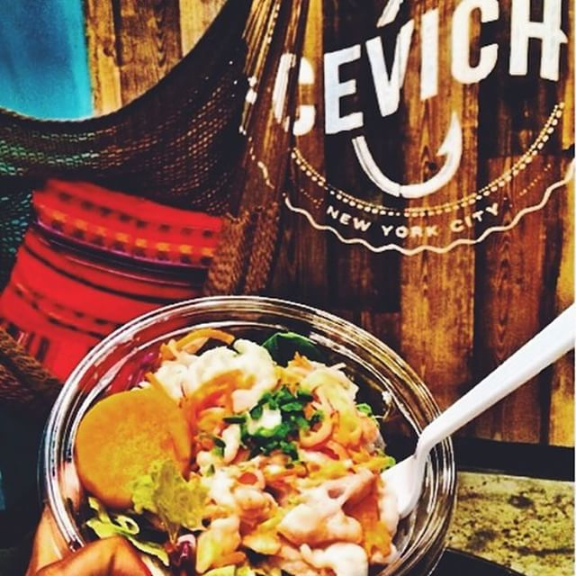 Sit back and enjoy a fresh bowl of ceviche! #unionsquare #freshnotfancy #nyceats #Cevich #cevichny #ceviche #hammock #delicious