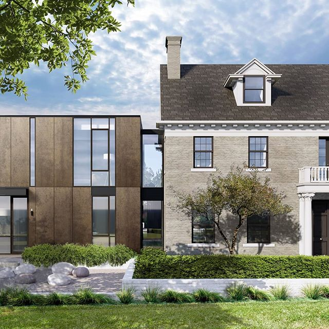 A sneak peek of our latest project to start construction.  #austinarchitecture #historicrestoration #oldwestaustin #oldmeetsnew #enfield #georgianrevival #aparallel #shoberghomes #teneycklandscapearchitects