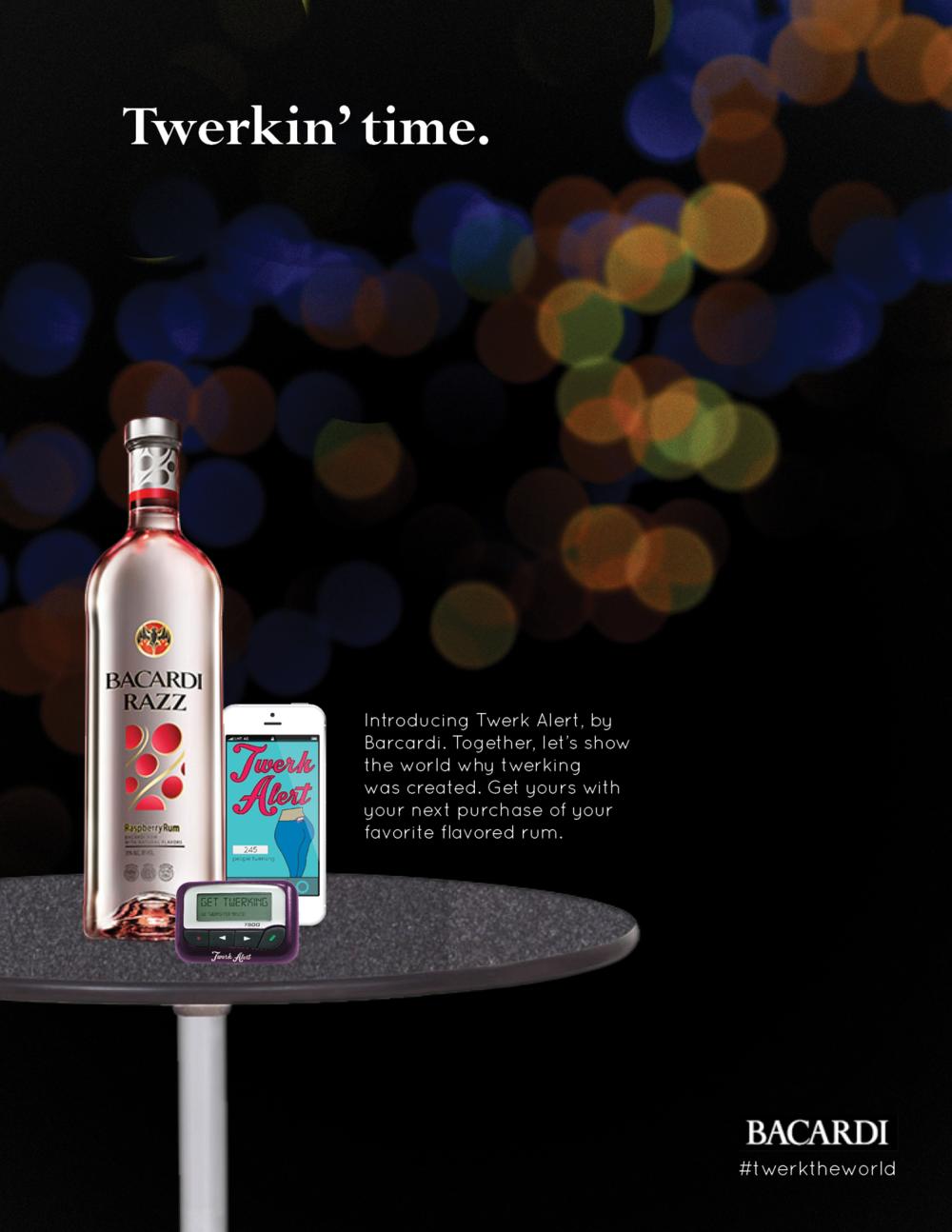 Print ad for the Twerk Alert Device