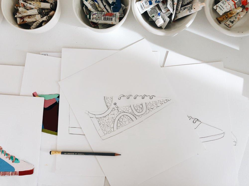 Flipping through Vuillard's work helped inspire my sneaker series, which I'll releasing next month!
