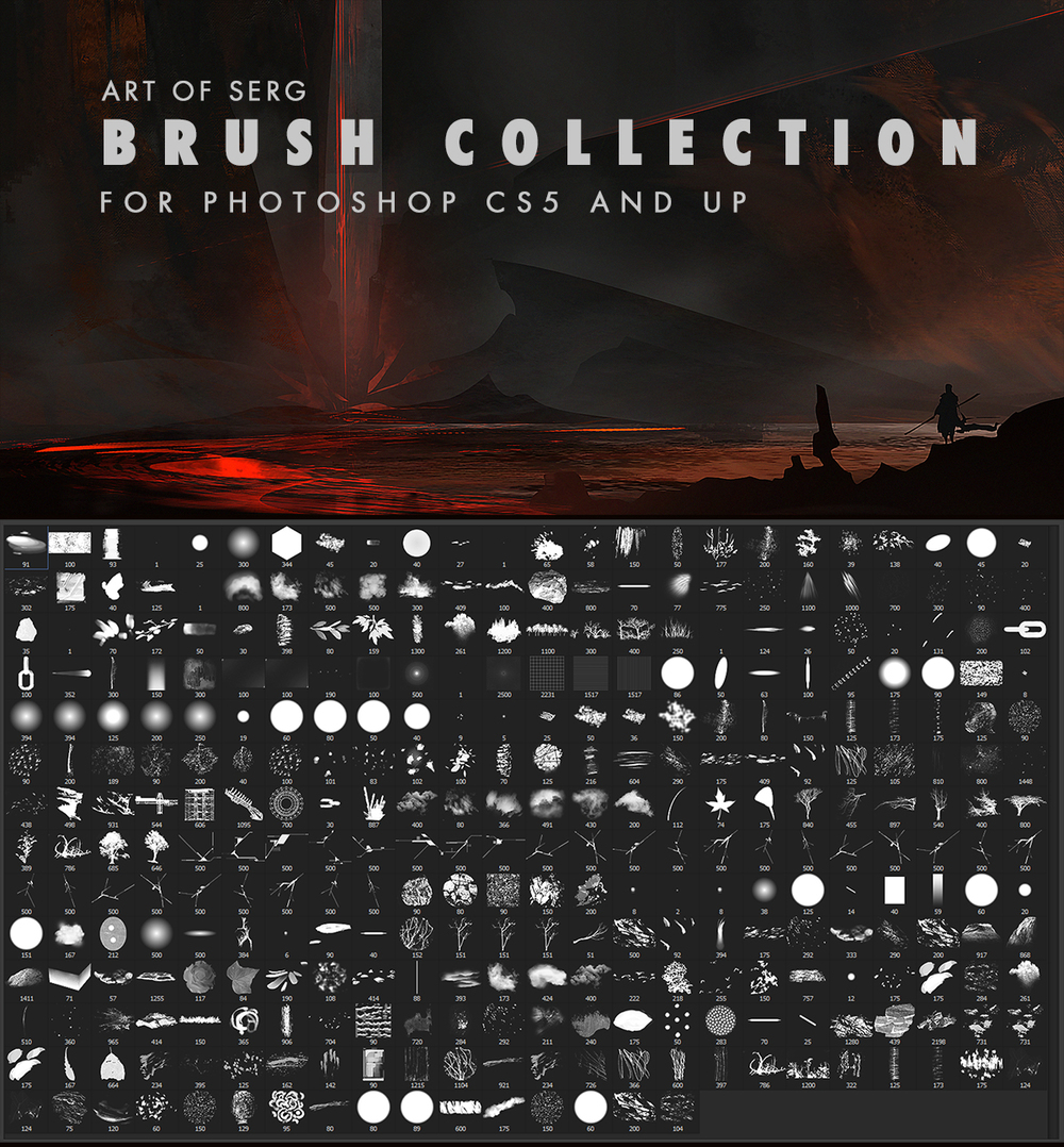 Free photoshop brushes for illustrators and concept artist.