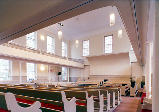 Sanctuary, Friends Meeting House, New York City. Photo by Elliott Kaufman