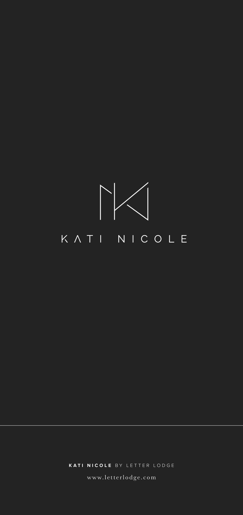 Kati Nicole Photography Wedding and Elopement Photographer Portland Oregon Branding Logo Design Graphic Design by Letter Lodge Design House White Minimal Modern Simple Clean Lifestyle Blogger Fashion Editorial Designer.jpg