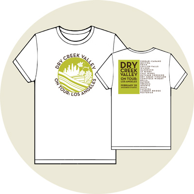 Event T-shirts for the event on sale with your ticket purchase.