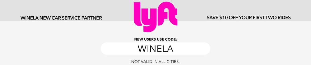 Lyft Wine La promo Widget