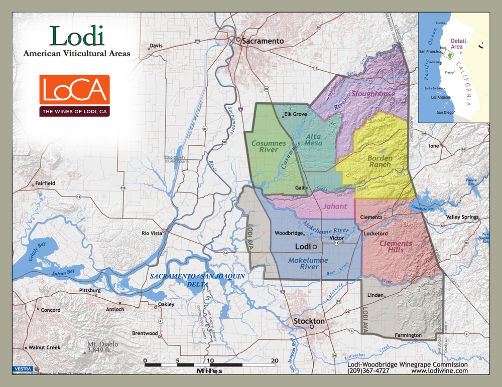 Lodi AVA Map (Click to enlarge)