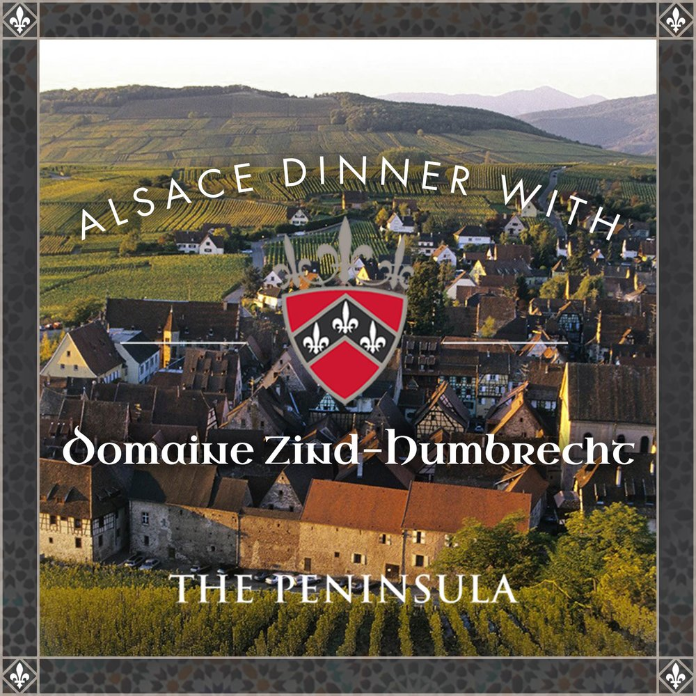 ALSACE DINNER W/DOMAINE ZIND-HUMBRECHT THE PENINSULA    JUNE 8, 2018