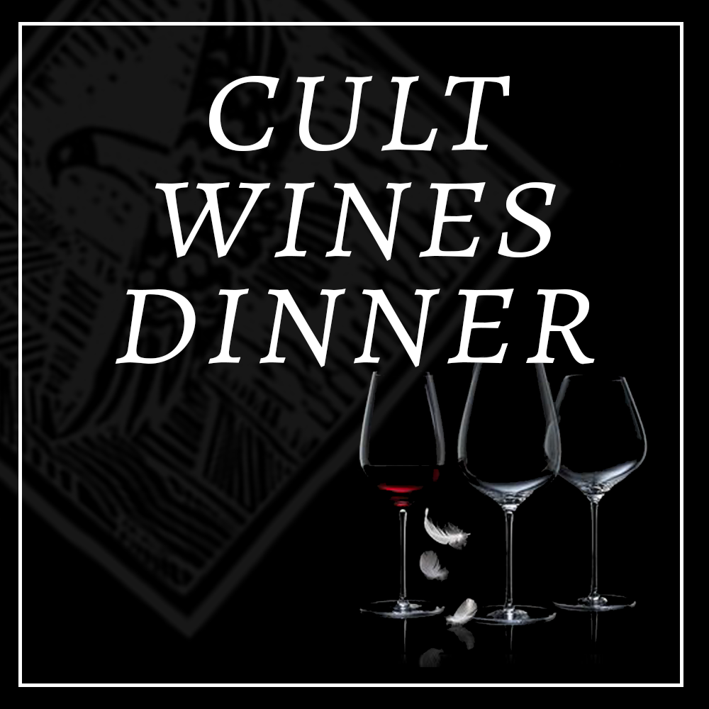 CULT WINES DINNER  PASADENA, CA   SEPTEMBER 20, 2018