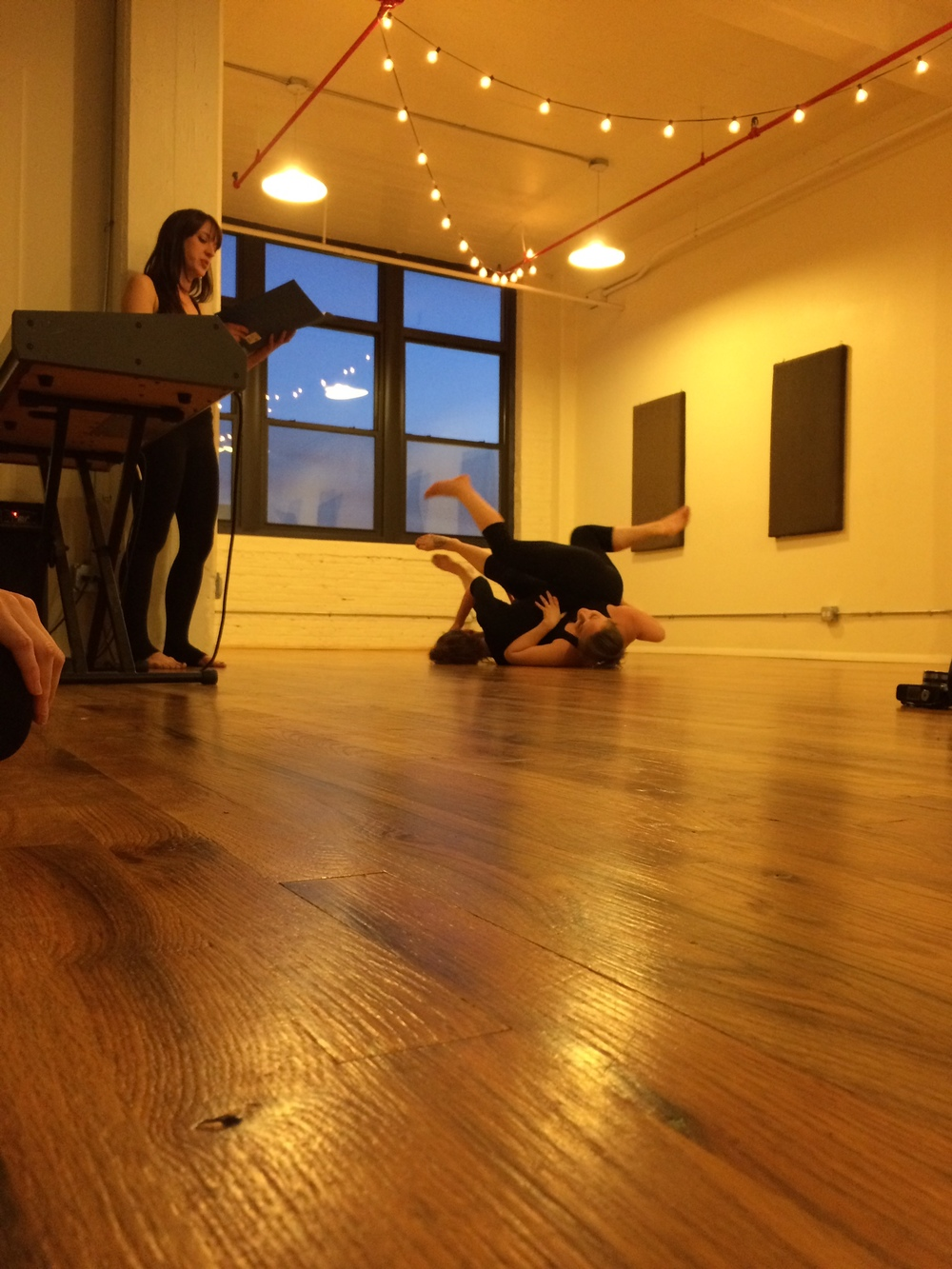 Using text work with contact improv